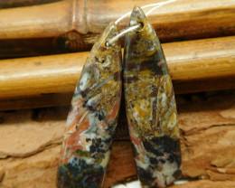 Natural gemstone earring pairs (G2293)