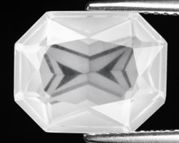 6.28 CT WHITE QUARTS TOP FANCY CUT GEMSTONE QF10
