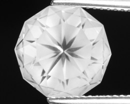 5.35 CT WHITE QUARTS TOP FANCY CUT GEMSTONE QF20