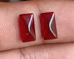Fancy Cut Natural Garnet Pair Natural+Untreated VA358