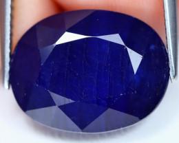 Blue Sapphire 15.37Ct Oval Cut Royal Blue Color Sapphire A2401