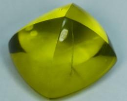 31.36Cts Natural Prasiolite Lemon Green Sugar Loaf 18mm
