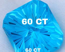 60 CT ROYAL BLUE TOPAS  - ORIGIN CEYLON