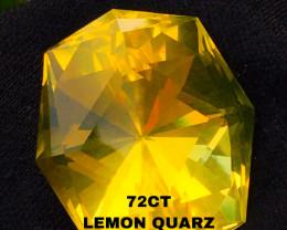 72 CT - LEMON QUARZ-  ORIGIN CEYLON!! Gorgeous!