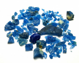 Amazing Natural color gemmy quality lovely Rare Afghanite Rough lot  55Cts-