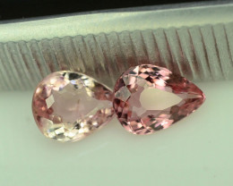 Lovely Baby Pink  1.25 ct Pair Attractive Tourmaline