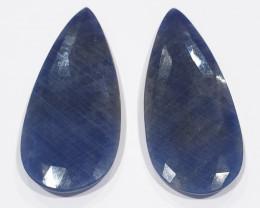 1 Pair Huge Sapphire 100 Ct 55.4x22mm Drop (SKU181)