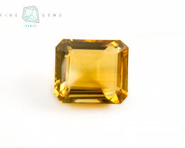 9.12 carats Natural Citrine Octagon rectangle cut