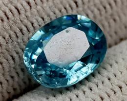 2.69CT BLUE ZIRCON BEST QUALITY GEMSTONE IIGC37