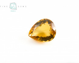 14 carats Natural Citrine Pear cut