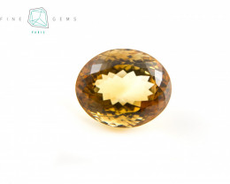 22.18 carats Natural Citrine Oval cut