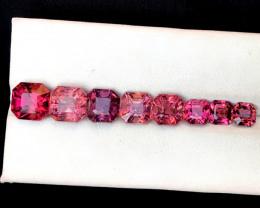 11.30 Carats Natural Asscher Cut Tourmaline Gemstones