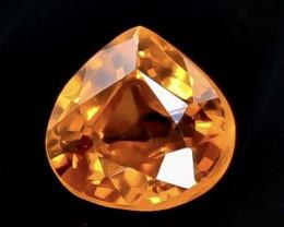 0.64 Crt Natural  Spessartite Garnet Faceted Gemstone.( AB 30)