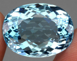 22.59 ct. 100% Natural Earth Mined Top Quality Blue Topaz Brazil