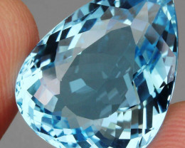 27.79 ct. 100% Natural Earth Mined Top Quality Blue Topaz Brazil