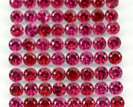 9.94 Ct 82p 2.7mm Round Cut 100% Natural Neon Purple Rhodolite Garnet Malaw