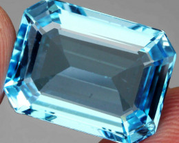 20.08 ct. 100% Natural Earth Mined  Swiss Blue Topaz Brazil