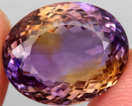 18.51 ct. 100% Natural Earth Mined Top Quality Ametrine Bolivia Unheated