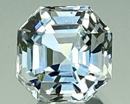 3.09 Ct Aquamarine Exc Asscher Cut Top Luster AAA Quality Gemstone. AQF 09