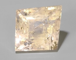 14.65 CTS EXCELLENT NATURAL LUSTER PEECH-PINK MORGANITE FANCY CUT~
