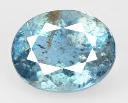 2.13 Cts Un Heated Blue  Natural Aquamarine Loose Gemstone