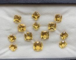 68.83 ct Citrine  Gemstones parcel/13 pc