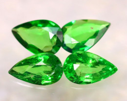 Tsavorite 1.42Ct 4Pcs Natural Vivid Green Color Tsavorite Garnet EF2611/B7