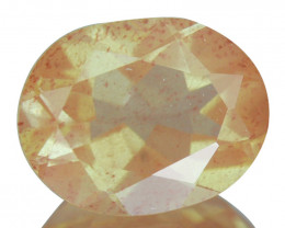 1.70 Cts Natural Greenish Sparkle Red Sunstone Andesine Oval Congo