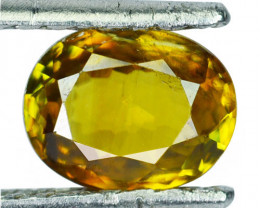 ~HONEY GREEN~ 1.62 Cts Natural Sphene Oval Cut Madagascar