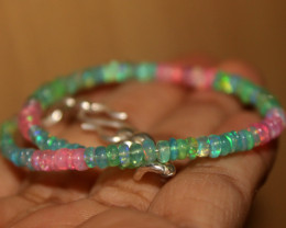 22 Crts Natural Ethiopian Welo Multi Color Opal Bracelet 151