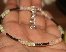 13 Crts Natural Ethiopian Welo Opal & Spinal Bracelet 105