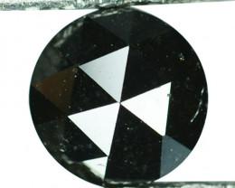 1.10 Cts Natural Black Diamond Round 6mm (Rose Cut) Africa