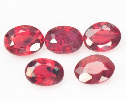 Sapphire 1.00 Carat 5 Pcs Fancy Red Color Loose Gemstone