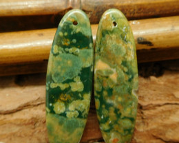 Ocean kambaba earring bead (G2353)