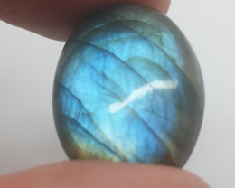 29.67 Ct Blue Fire Labradorite Cabochon 25.8x19.4mm (SKU172)