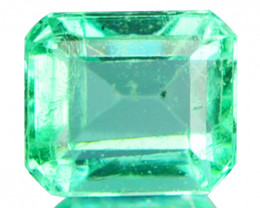 0.33Cts Natural Colombian Green Emerald