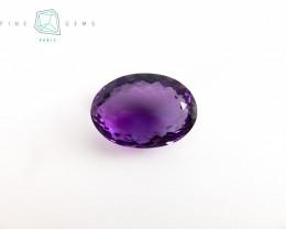 14.71 carats Natural Amethyst Purple  Gemstone Oval cut