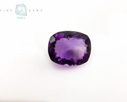24.81 carats Natural Amethyst Purple  Gemstone Cushion cut