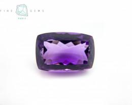 29.77 carats Natural Amethyst Purple  Gemstone Cushion cut