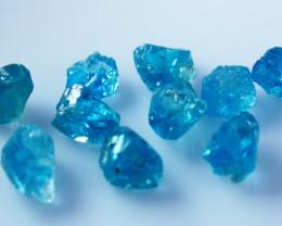 29.50 CT Natural Blue Zircon Rough Lot