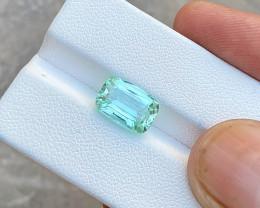 4 Ct Natural Sea Foam Color Transparent Tourmaline Gemstone