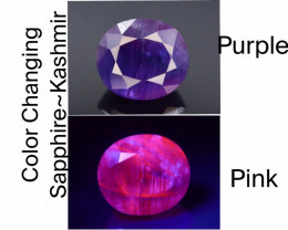 Color Change Sapphire, 2.05 ct - Mined in Kashmir   Certified by GGI