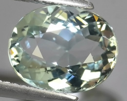 3.40 Cts - Sparkling Luster -Oval~Cut- Natural Aquamarine Excellent !!