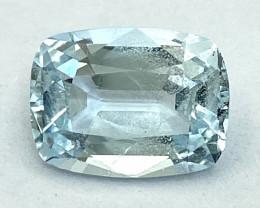 5.33Ct Aquamarine Exc Asscher Cut Quality Gemstone From Pakistan.AQF 03