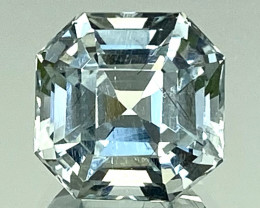 4.87Ct Aquamarine Exc Asscher Cut Quality Gemstone From Pakistan.AQF 06