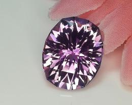 Top Luster Advance Amethyst Gemstone Cut by Master Cutter
