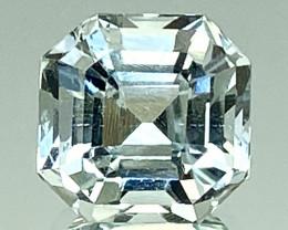 3.06Ct Aquamarine Exc Asscher Cut Quality Gemstone From Pakistan.AQF 06