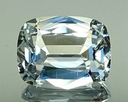 3.72Ct Aquamarine Exc Asscher Cut Quality Gemstone From Pakistan.AQF 08