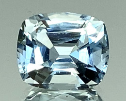 2.48Ct Aquamarine Exc Asscher Cut Quality Gemstone From Pakistan.AQF 11