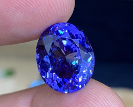 10.20 ct AAA Tanzanite Oval - Intense Color - Loupe Clean!